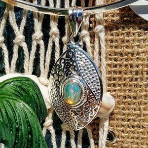⛱️🆕 Natural Ethiopian Opal Pendant